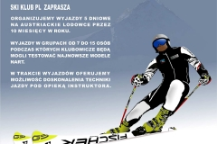 testy nart Fischer w Austrii na lodowcu