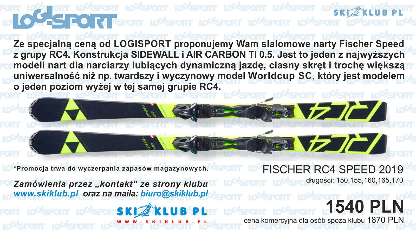 Narty slalomowe Fischer Rc4 Speed