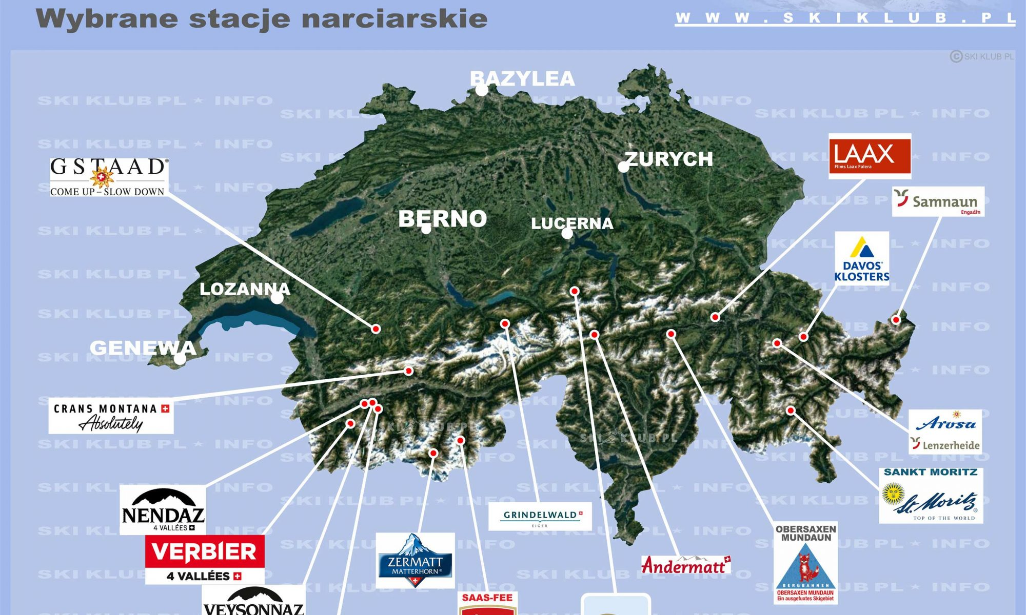 Stacje narciarskie w Szwajcarii