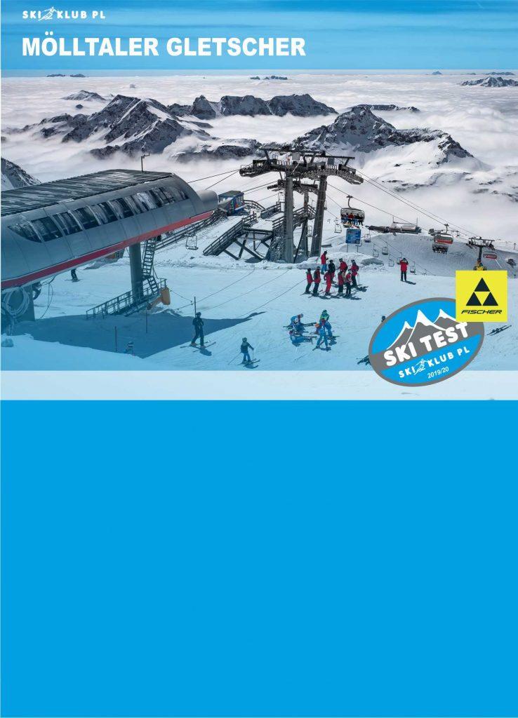 testy nart na lodowcu